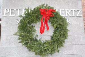Wreath on science bldg