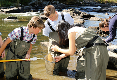 NYA Middle School Studying the Royal River