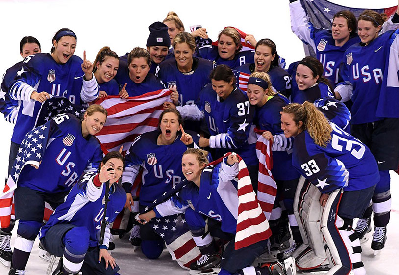 2018 US Women's Hockey Team