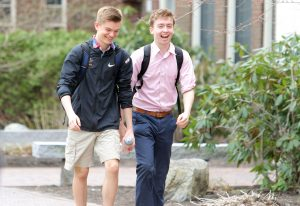 NYA Upper School Boys Walking to Class