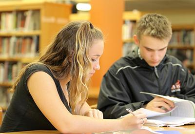 NYA Upper School Students in Library