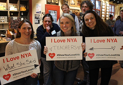 NYA Show Your Love Campaign - alumni signs