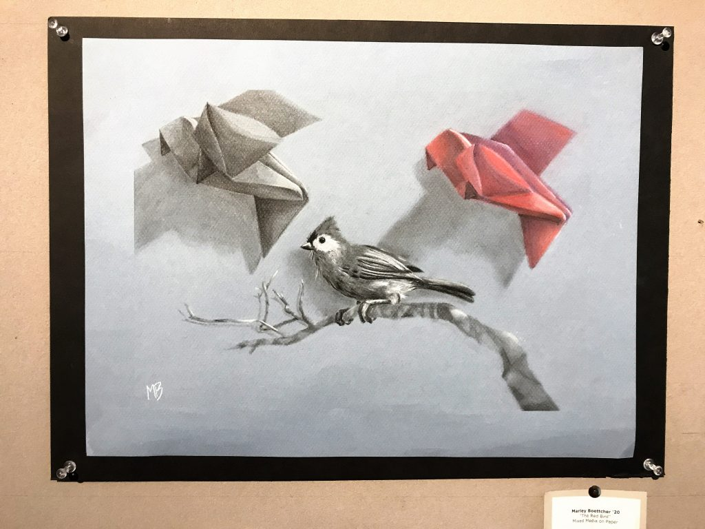 "NYA Curtis Gallery - ""The Red Bird"" by Marley Boettcher"