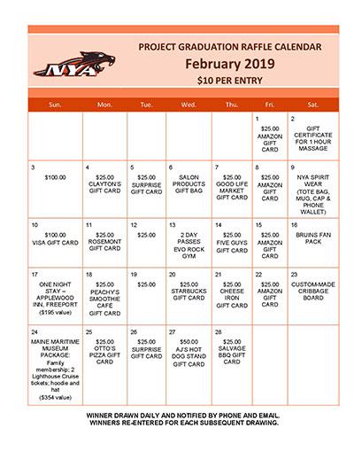 NYA Raffle Calendar