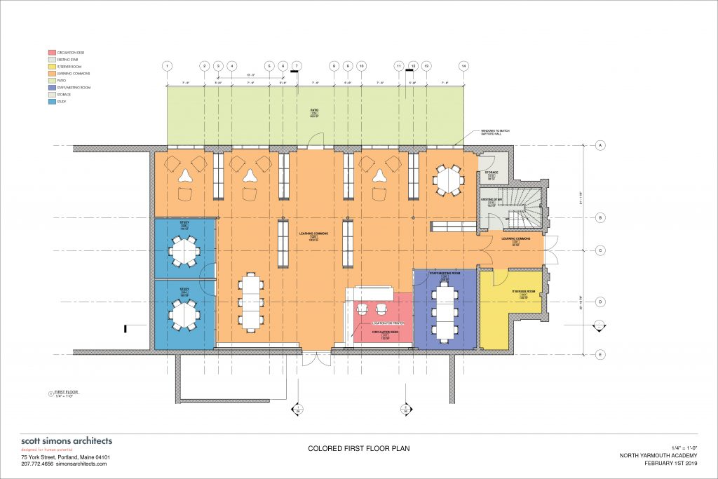 NYA Learning Commons Floor Plan 1