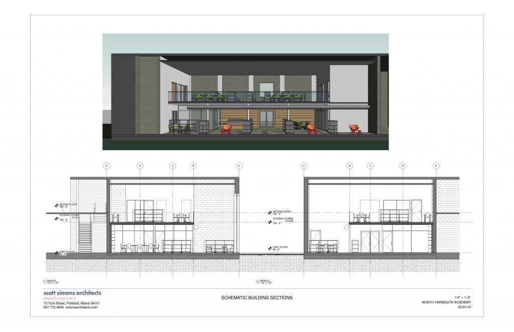 NYA Learning Commons Rendering 3