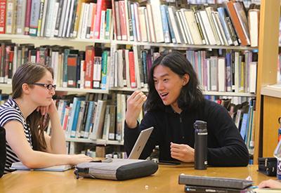 Students in NYA library - credit Brian Beard - CIP