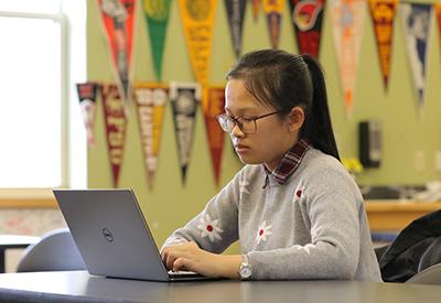 NYA Student at computer 2019- credit Brian Beard - CIP
