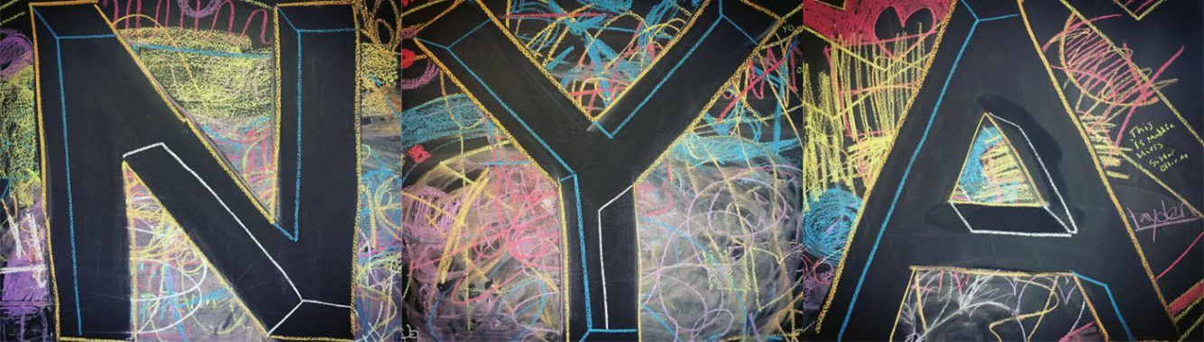 Middle School Chalk Wall Drawing