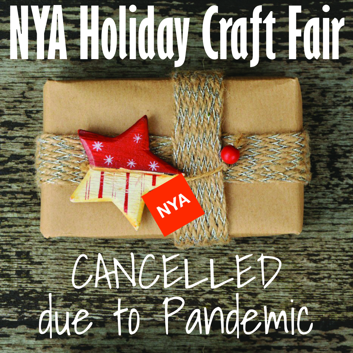 NYA Holiday Craft Fair cancellation button 2020