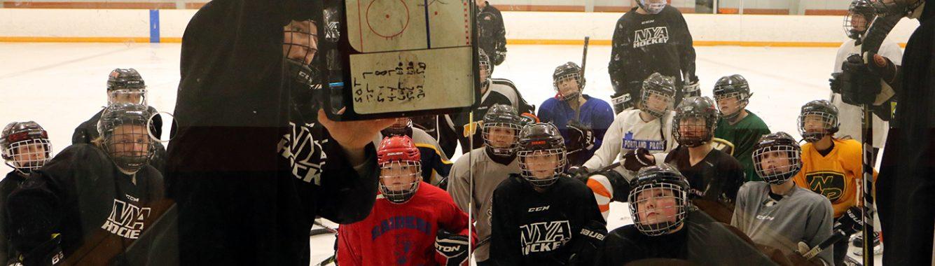 NYA MS Hockey Practice with V Boys 2020