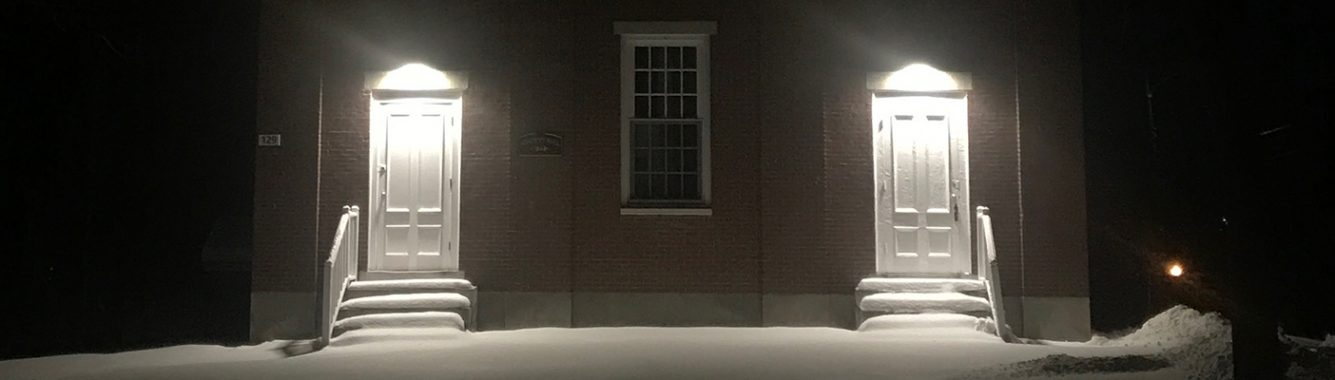 Academy at Night Winter