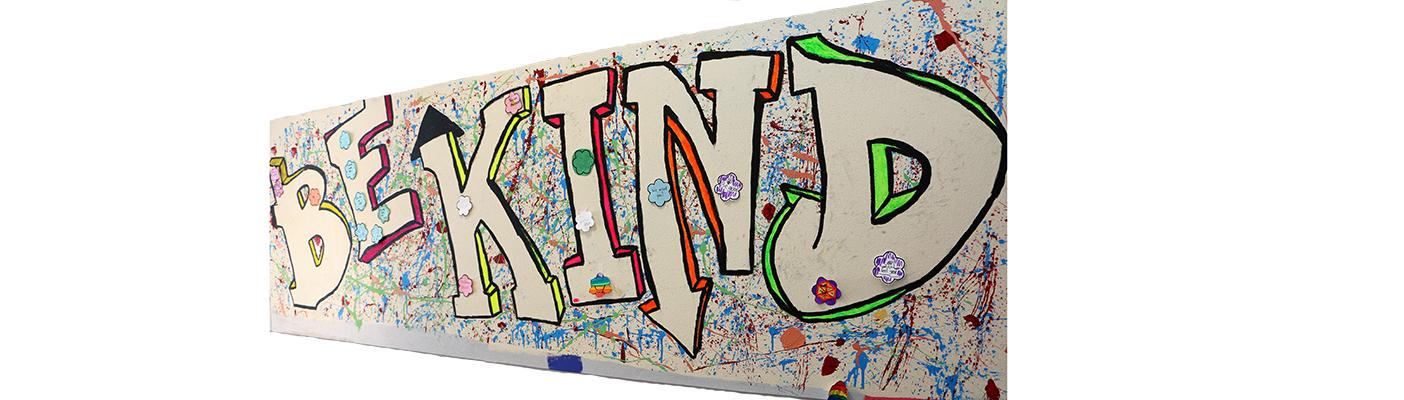 Be Kind Mural Curtis Entrance